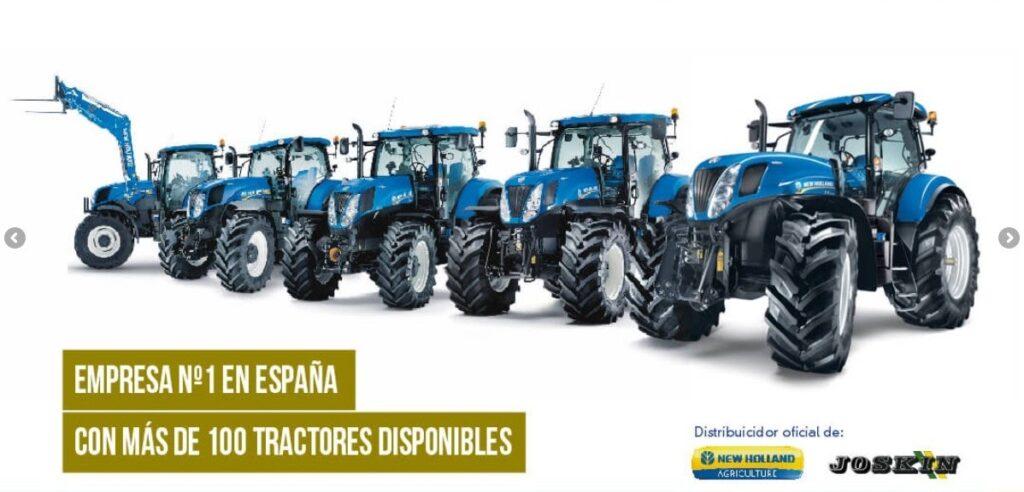 empresa líder en el alquiler de tractores agrícolas en España